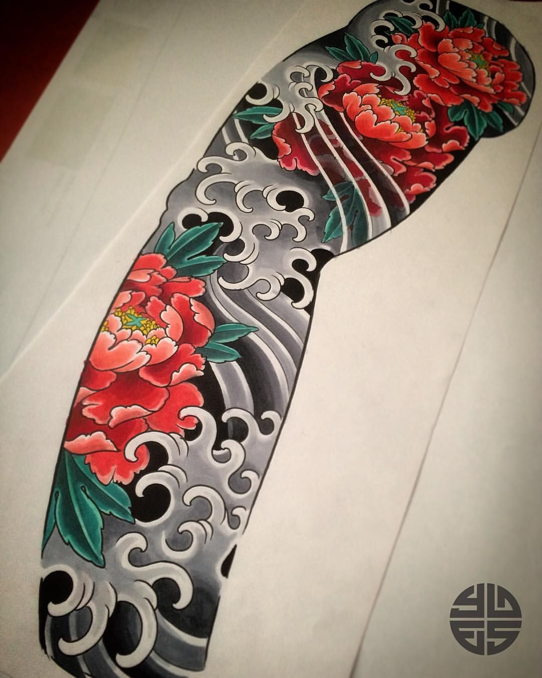 Sleeve Design Ready For Tattooing If You Are Interested Mail T Japanese Sleeve Tattoos Japan Tattoo Design Traditional Japanese Tattoos