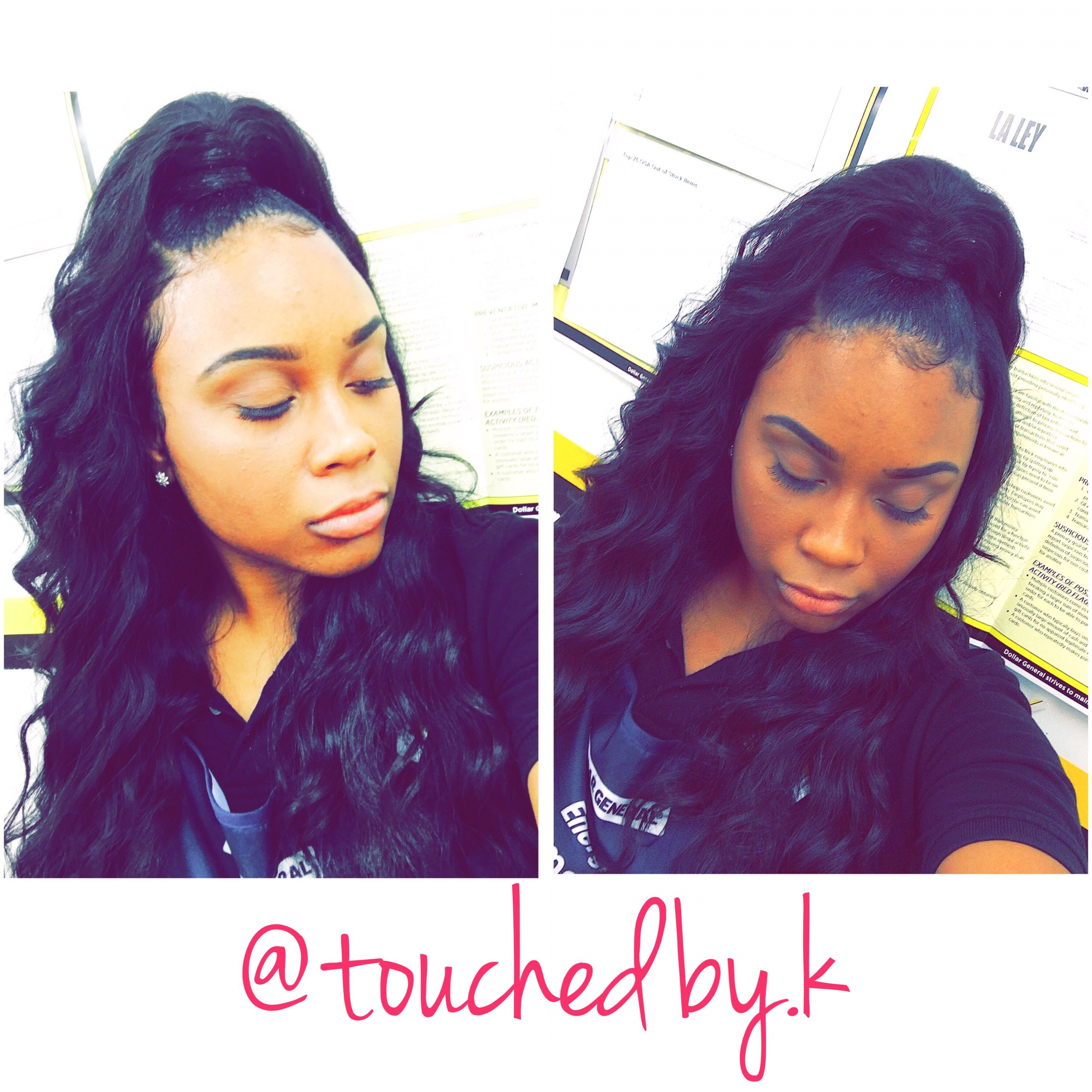 Half Up Half Down Quickweave Quickweave Touchedby K In