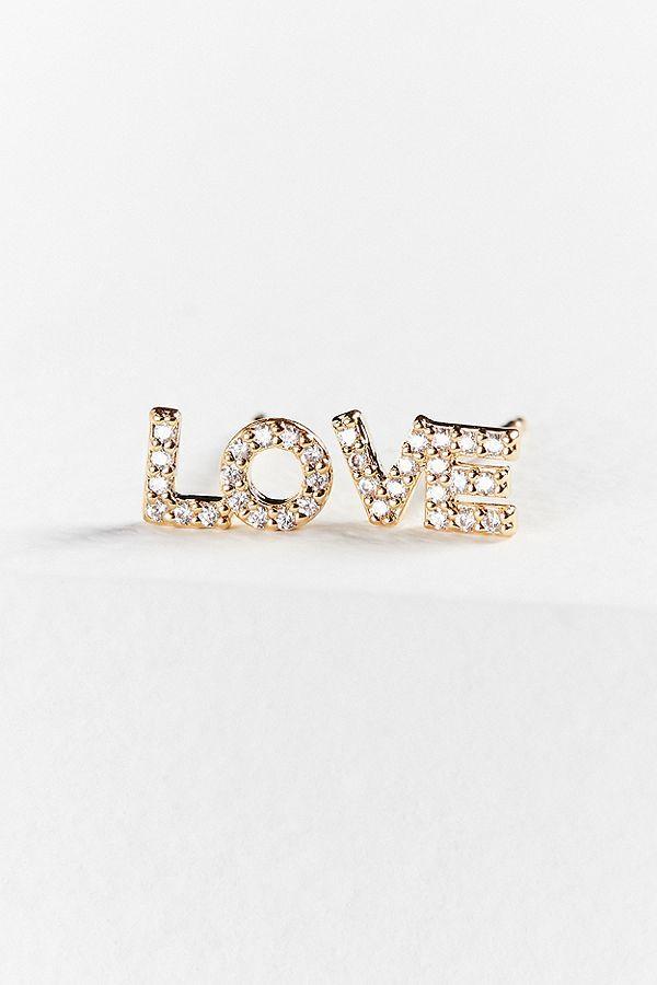 Cloverpost Love Post Earring