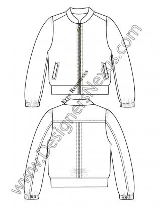 V22 Windbreaker Jacket Fashion Technical Drawing Template Flat Sketches Fashion Drawing Technical Drawing