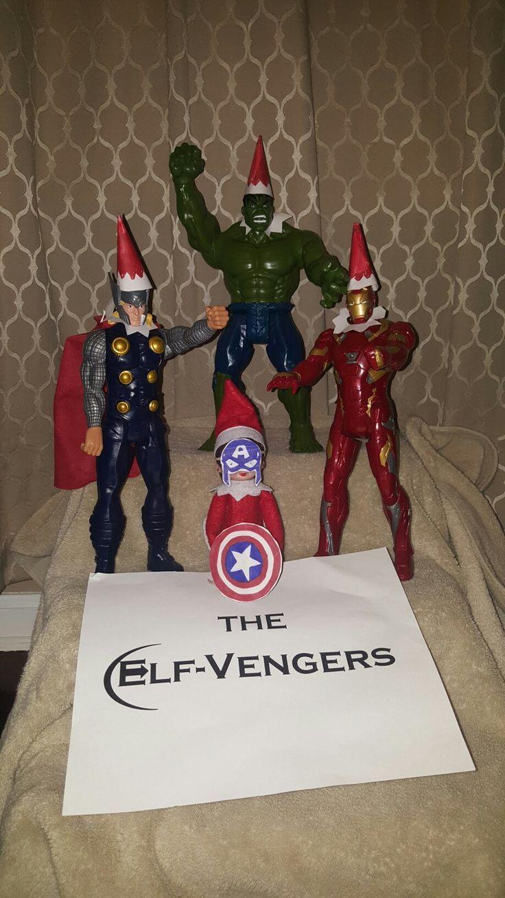 elf on the shelf Avengers Elf-Vengers #elfontheshelf