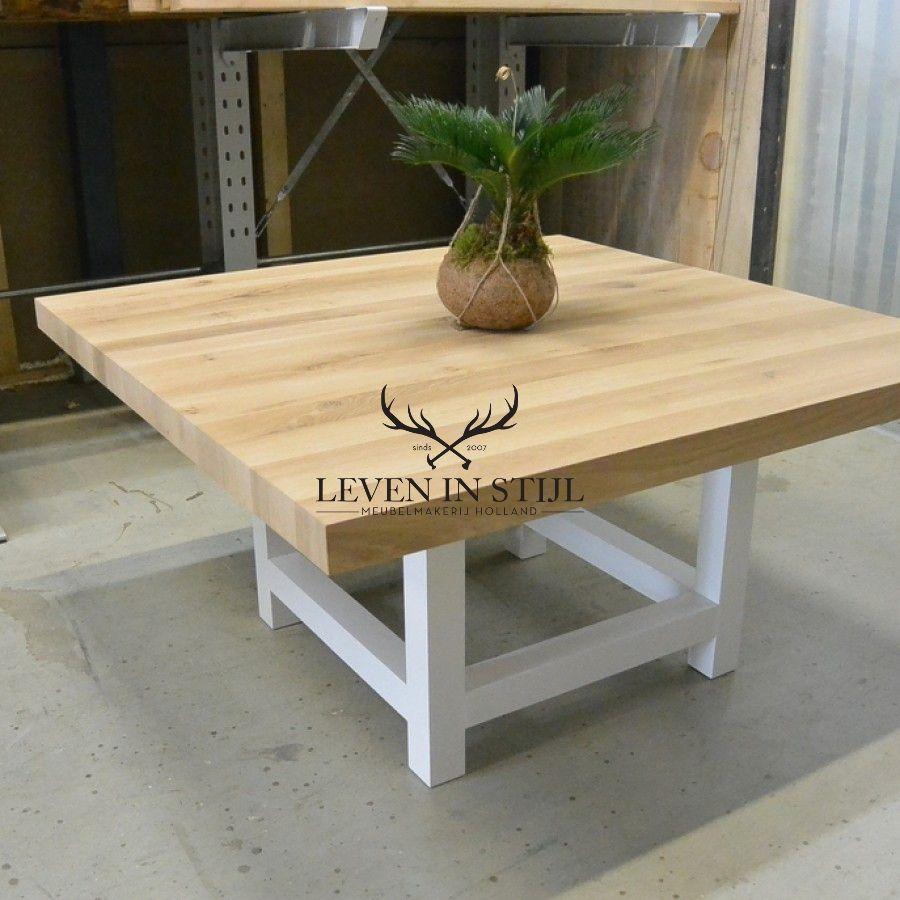 Vierkante Eettafel Wit.Vierkante Eettafel Met Kolompoot In 2019 Keuken