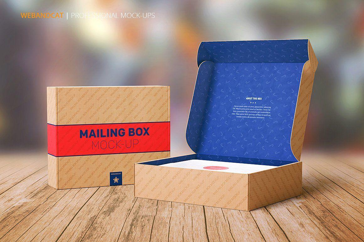 Download Shipping | Mailing Box Mock-up | Corrugated box design ...