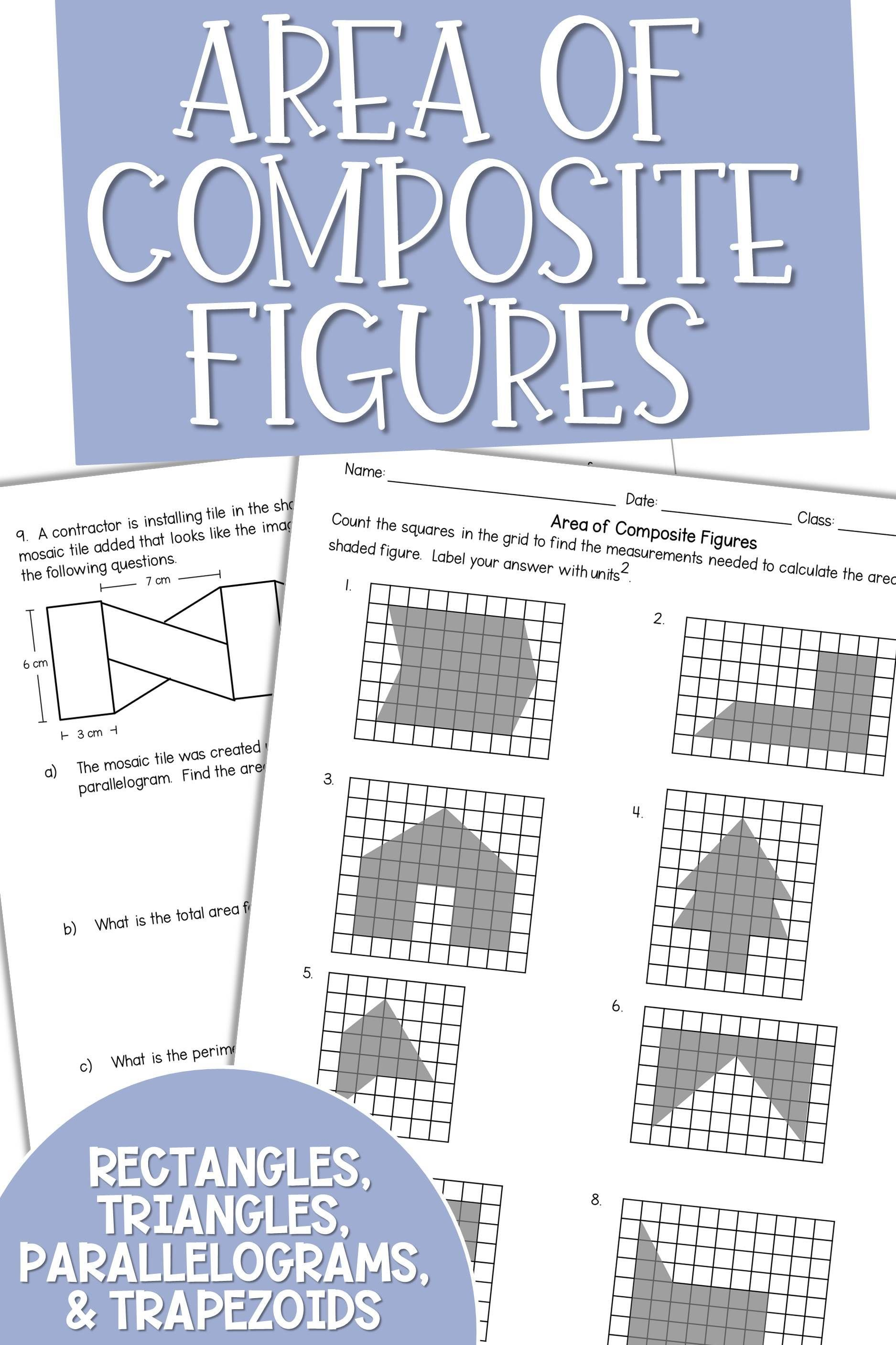 Area Of Composite Figures Writing Equations Middle School Math Teaching Math
