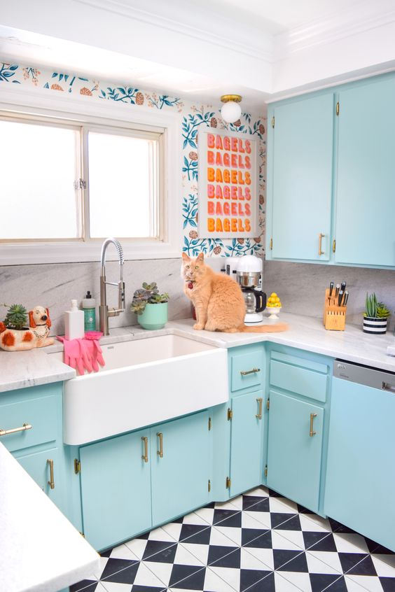 5 color pop cabinet ideas to update your kitchen - Daily Dream Decor