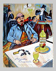 Grande Absente Absinthe Originale art- Homage a Lautrec- by John Pacovsky