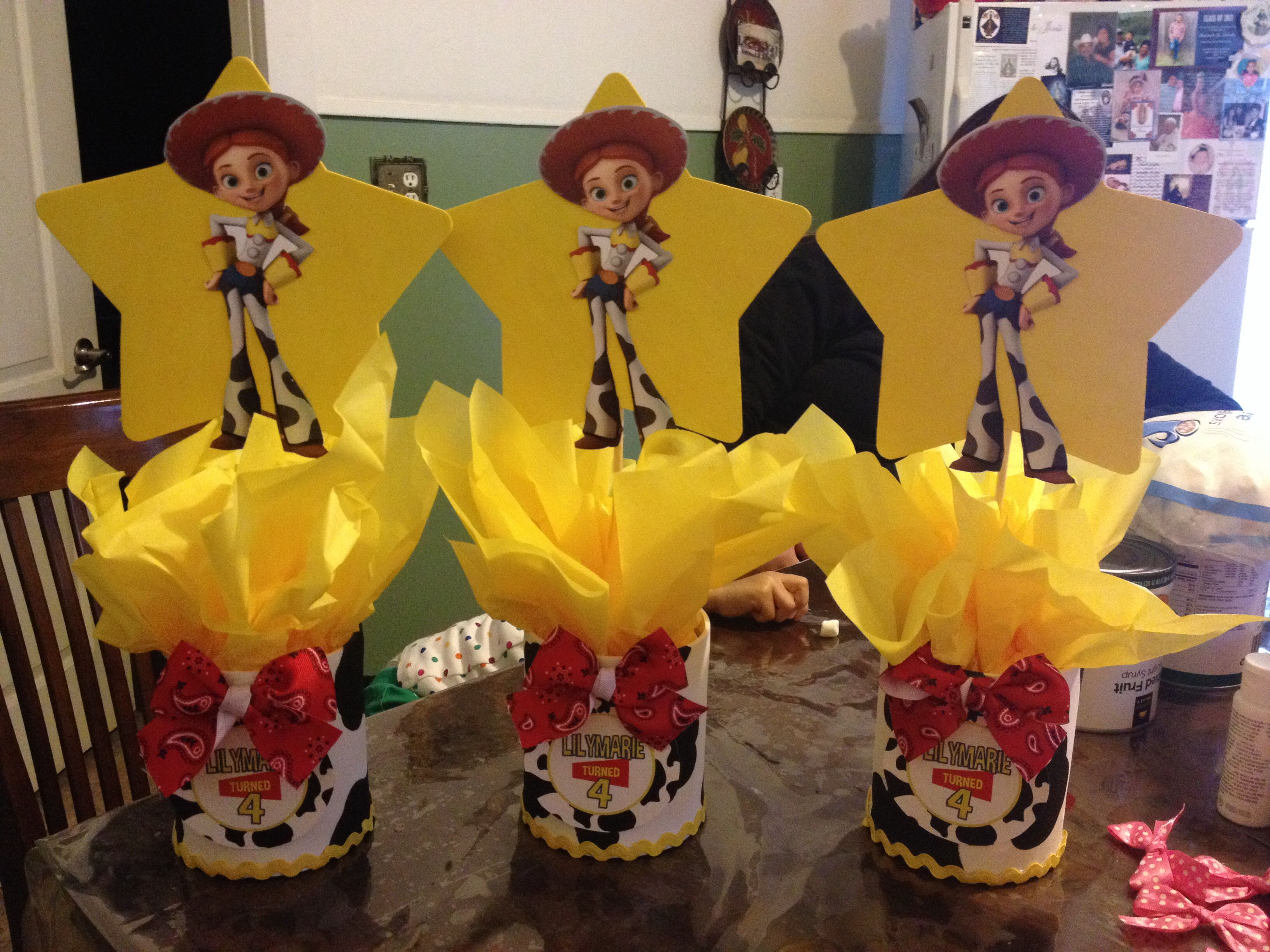 Toy story party ideas birthday in a box - Toy Story Jessie Centerpieces