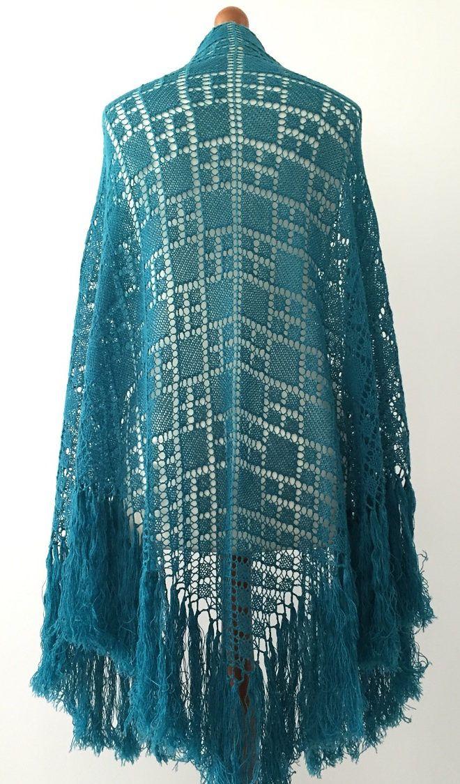Free Knitting Pattern For Argyle Shawl Triangular Shawl With