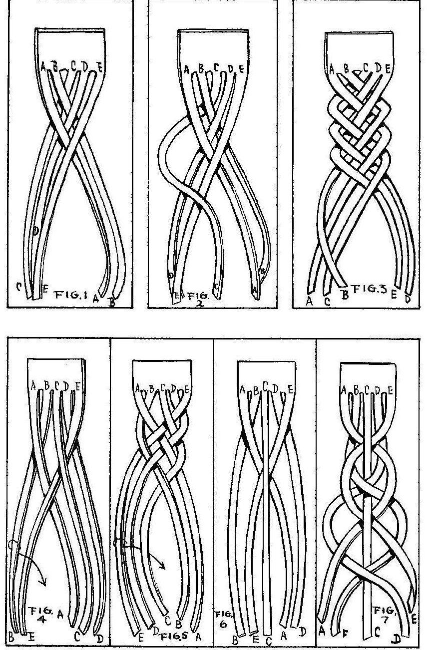 trenzado tiras cuero … | tientos | Pinte…