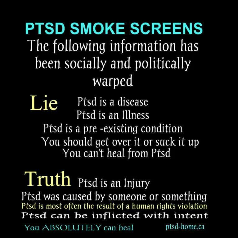 PTSD is very real, and very complex. It's an injury to the brain and nervous system.