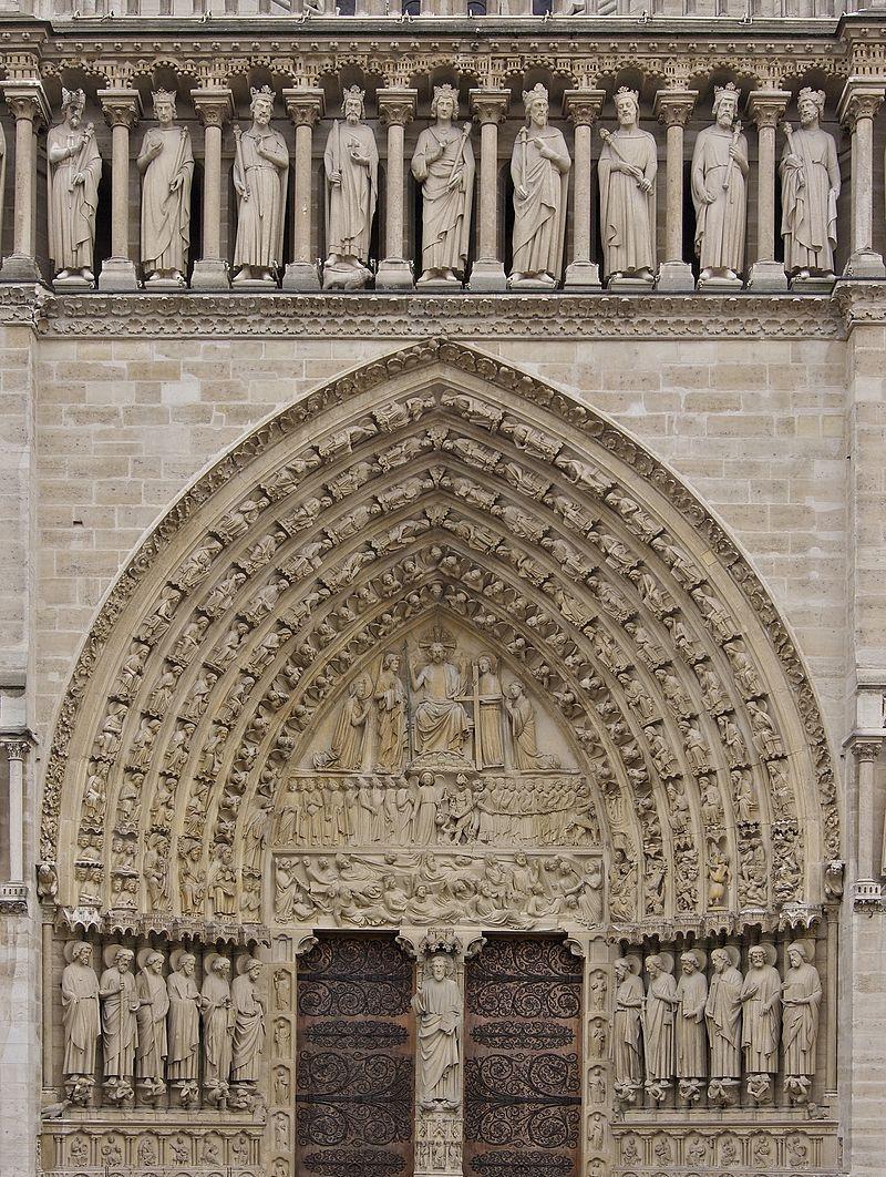 Notre Dame De Paris Main Gate Cathedrale Notre Dame De Paris Wikipedia Notre Dame De Paris Cathedrale Cathedrale Architecture Parisienne