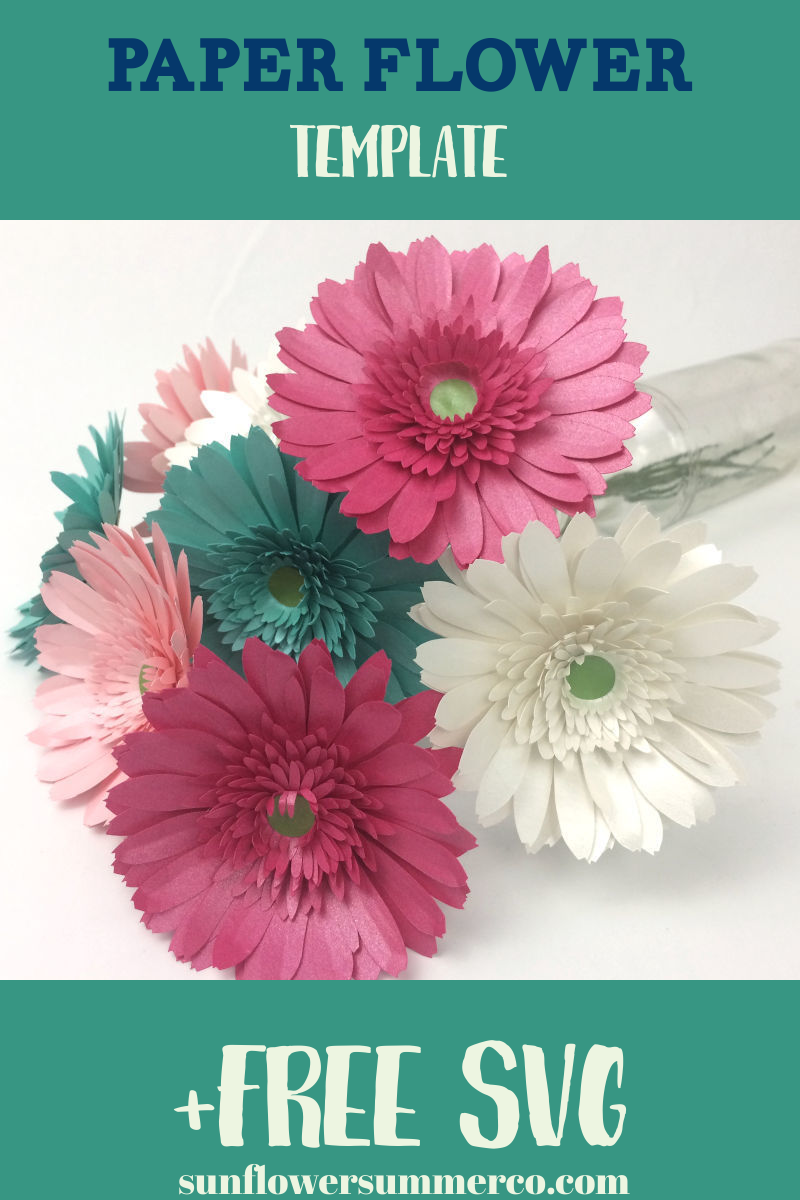 How To Make Paper Gerbera Daisies Easy Paper Flowers Paper