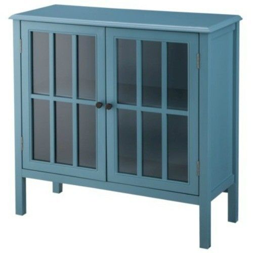 Accent Cabinet Table Cupboard Glass Doors Display