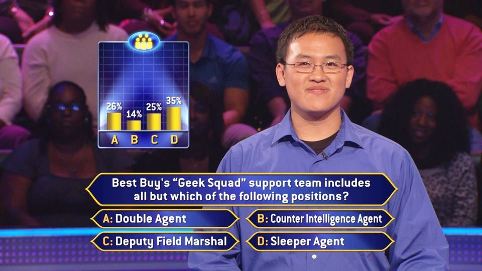 Chris Ngoon from Santa Clarita, CA, has beaten some of the best in trivia contests. But can the audience help him answer this question on Tuesday, 10/29?