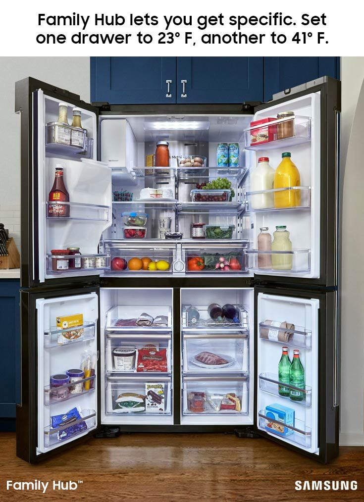 The Family Hub Refrigerator Lets You Store Your Favorite Foods The