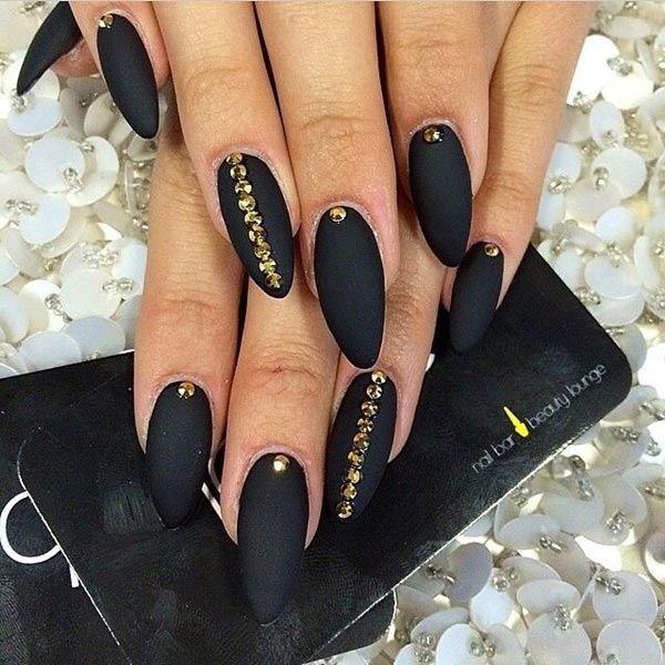 50 Sassy Black Nail Art Designs To Envy   Matte nails, Classy and Black