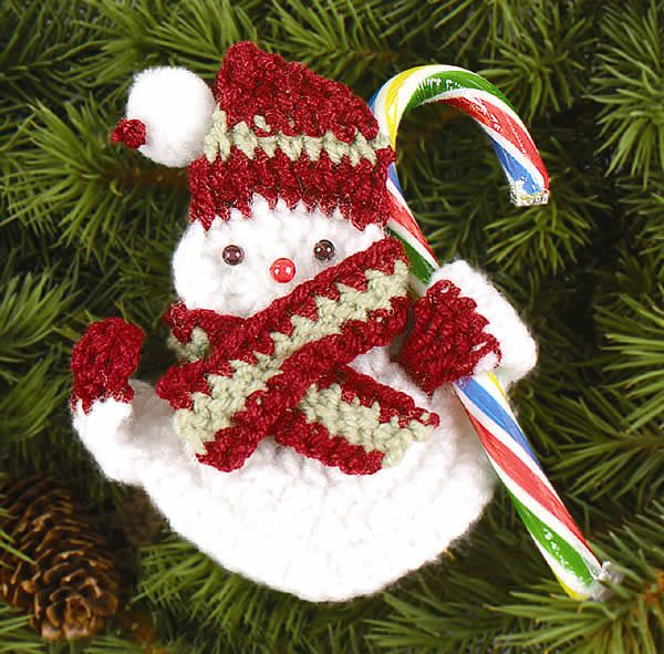 Snowman Candy Holder- FREE crochet pattern.