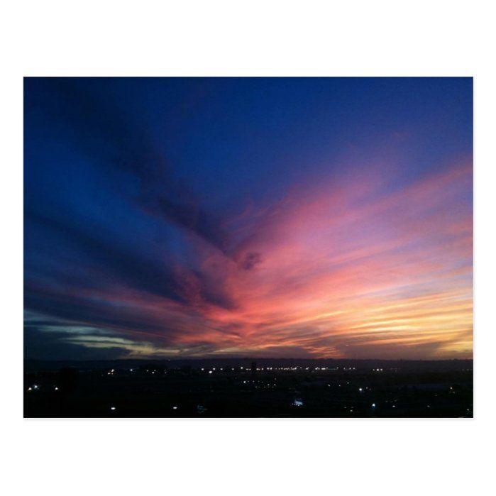 A breathtaking San Diego sunset from November 2011.