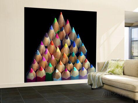 Colored Pencils Iso seinäkuva – isokokoinen