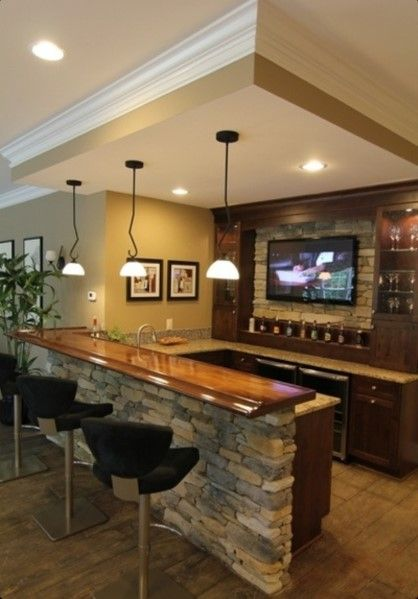Home Bar Ideas - Restaurant Interior Design Drawing •