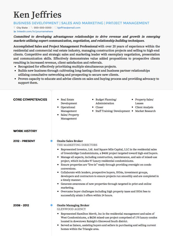 Project Manager In 2018 Resume Examples Pinterest Sample