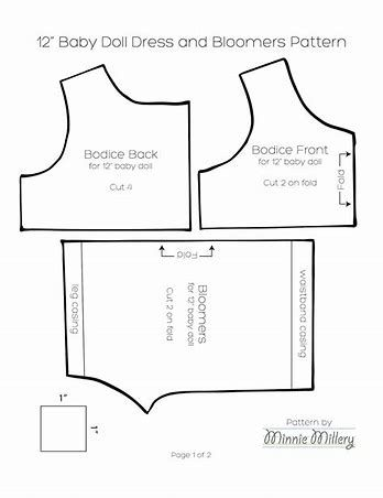 Image result for Free Printable 18 Inch Doll Clothes Patterns ...
