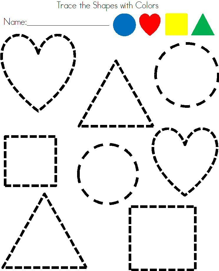 Preschool Shapes Tracing Worksheet | Shapes | Preschool ...