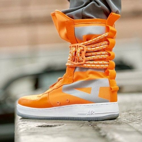 NIKE SPECIAL FIELD AIR FORCE 1 ONE SF AF1 HIGH ORANGE 630 TL