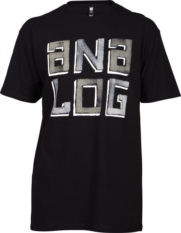 Analog Painted Stack T-Shirt Black Mens