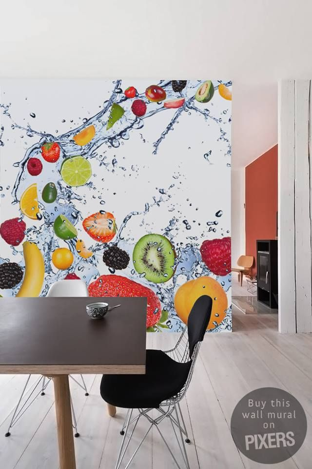 Refresh You Kitchen With Colorful Fruits Pixersize Com Balcao Para Lanchonete Papeis De Parede Animados Papeis De Parede
