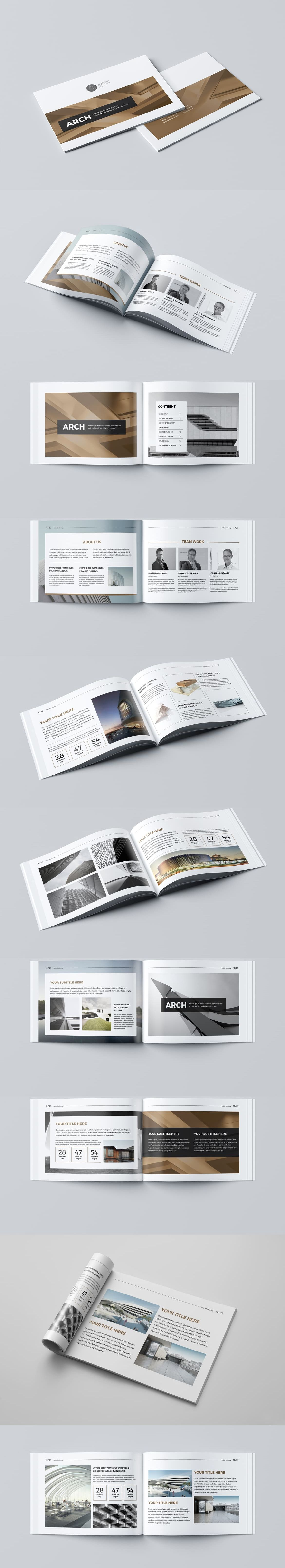 New Modern Architecture Brochure Template InDesign INDD - 24 Pages ...