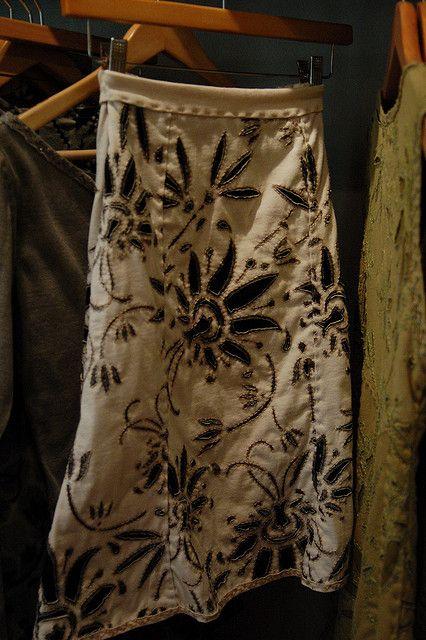 Alabama Chanin skirt and stitchery | Rock, Upcycling und Nähe