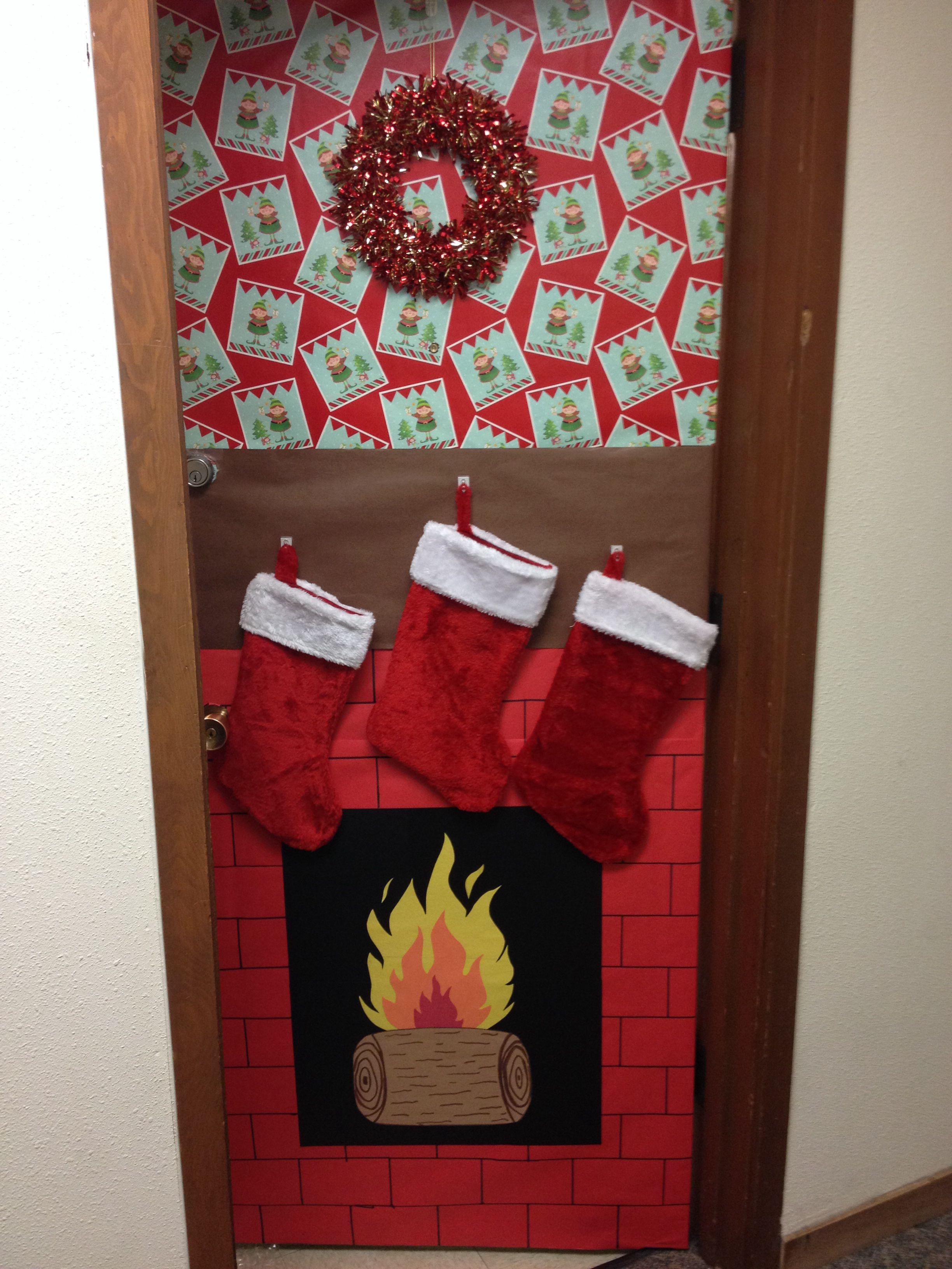 Christmas decorations for dorm door! | Christmas ...