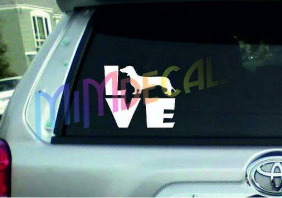 """Dachshund Love"" Dog Car Stickers – Furry Friend Bliss"