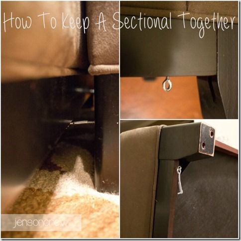 How To Keep A Sectional Together Sectional Couch Sectional Diy Couch