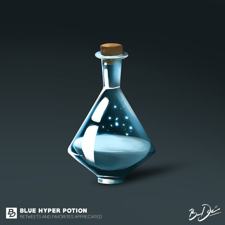 Blue Hyper Potion By Baredesigns On Deviantart Magical