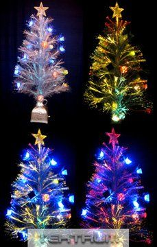 Captivating Tektrum 36 Christmas Rainbow Color Changing Fiber Optic Lights Tree With  Ornaments For Christmas/Holiday
