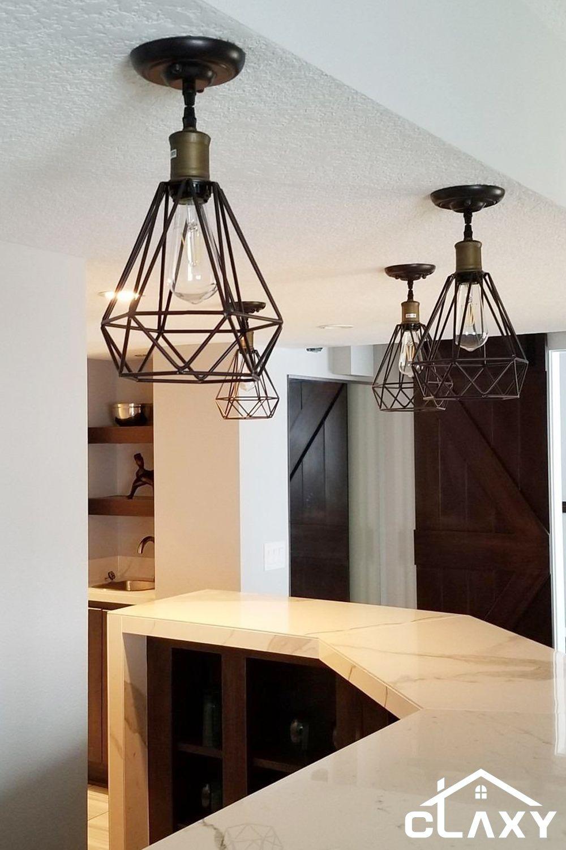 Home Wire Pendant Light Pendant Light Fixtures Geometric Pendant Light