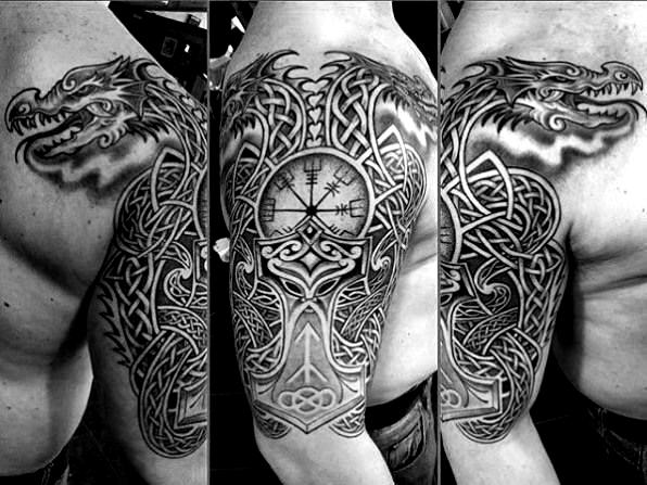 50 Celtic Dragon Tattoo Designs For Men Knot Ink Ideas Tattoostyle Tattoo S 50 Cel In 2020 Celtic Dragon Tattoos Dragon Tattoos For Men Viking Dragon Tattoo