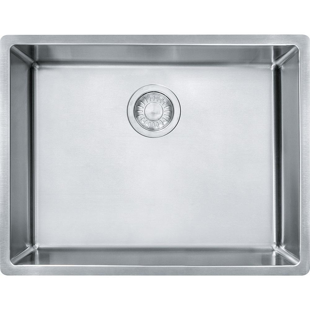 Cube 22 3 4 Stainless Steel Undermount Kitchen Sink Single Bo