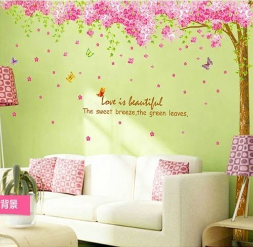 Wholesale Butterfly tree flower Animal Quote Wall Stickers Art Decal ...