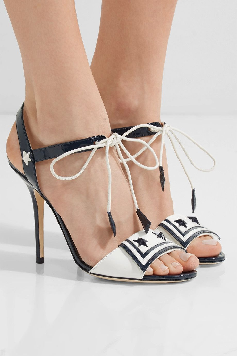 buy cheap browse outlet wide range of D&G Embellished Patent Leather Sandals 4LXztf