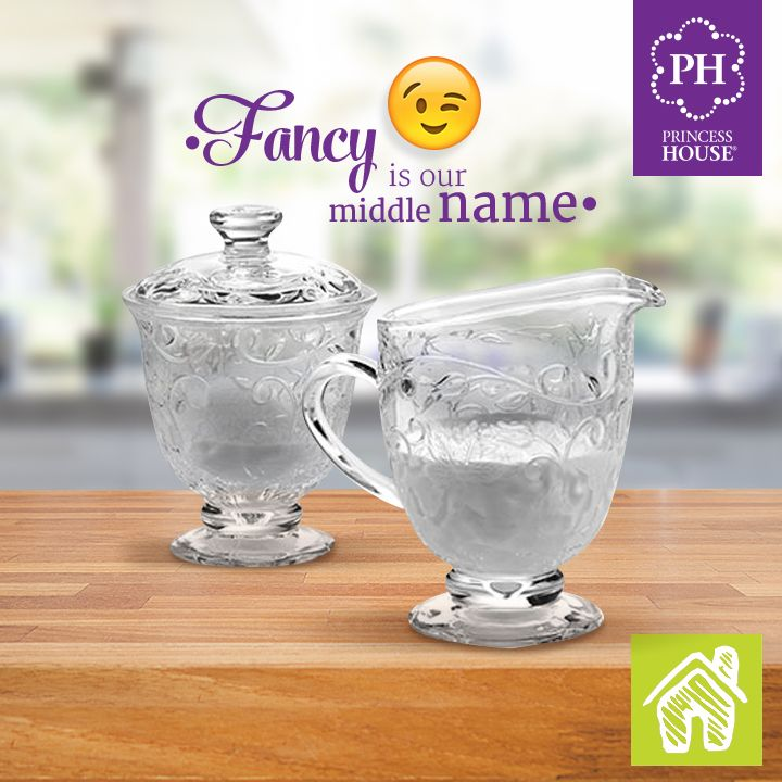 Fancy-up your coffee with the elegant flower and vine pattern from our Fantasia®  Pedestal Sugar & Creamer.