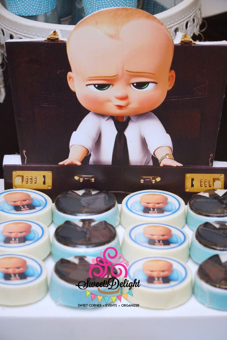 Boss Baby Dessert Table Sweets Delight Boss Baby Baby