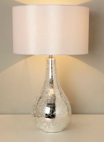 Sabrina Large Mirrored Crackle Table Lamp   Table Lamps   Home U0026 Lighting  #BHSLightupyourlife
