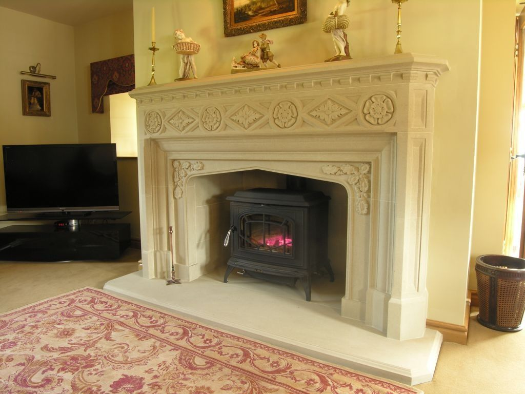 Superior Fireplace Co Part - 5: This Is Our Tudor Gothic Stone Fireplace. Templestone.co.uk