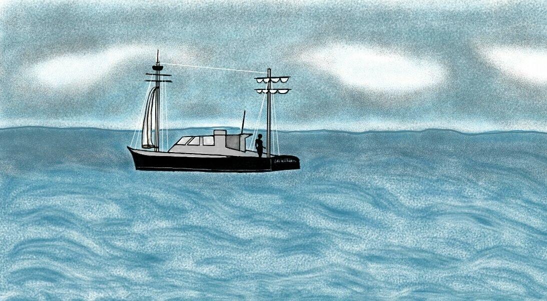 Vagabundo do mar (Sea Bum) - Illustration.
