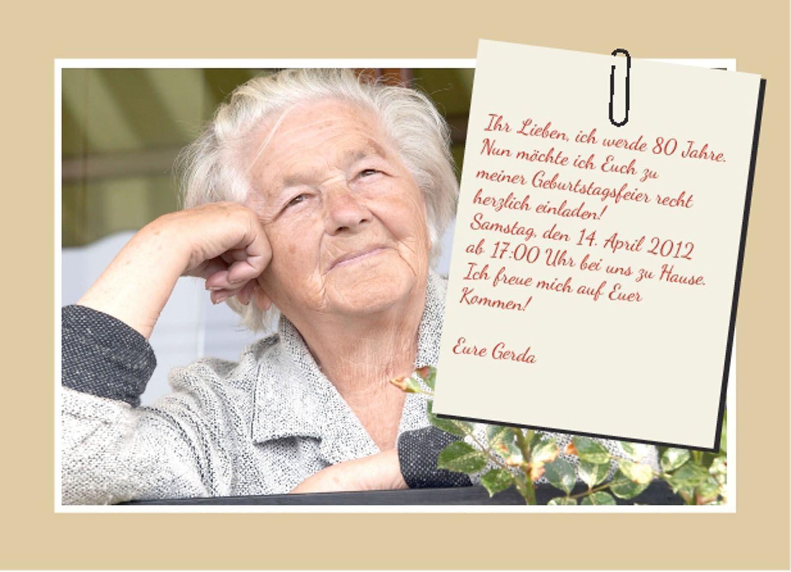 Einladungskarten Einladungen 80 Geburtstag Einladung
