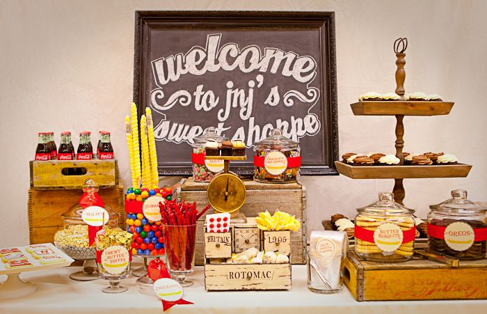 Incredible Retro Sweet Shoppe By Amy Atlas Candy Buffets Desserts Complete Home Design Collection Barbaintelli Responsecom