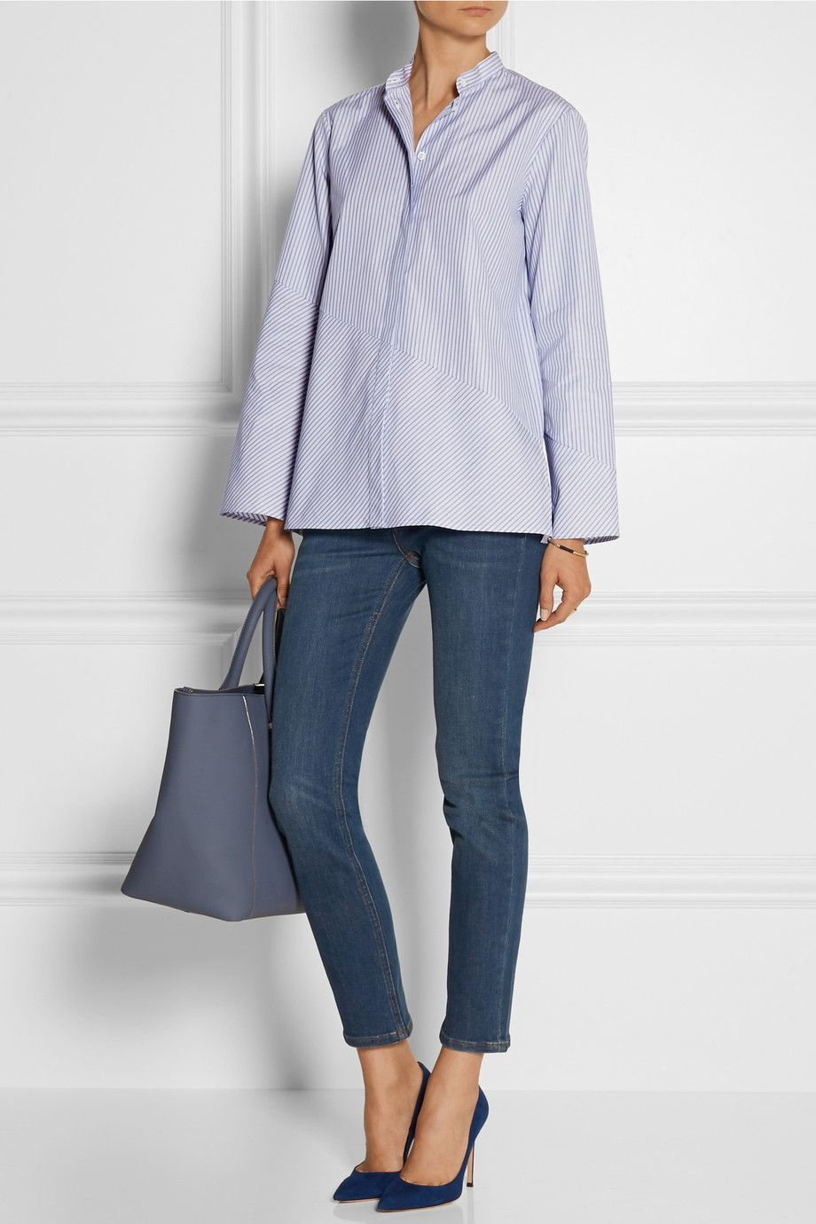 The Row | Tober striped cotton shirt | NET-A-PORTER.COM